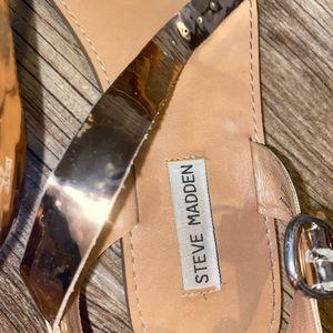 Metallic rose gold Steven madden sandal